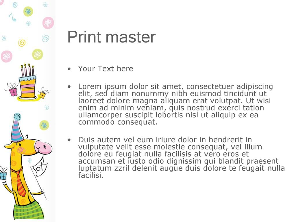 Print master Your Text here