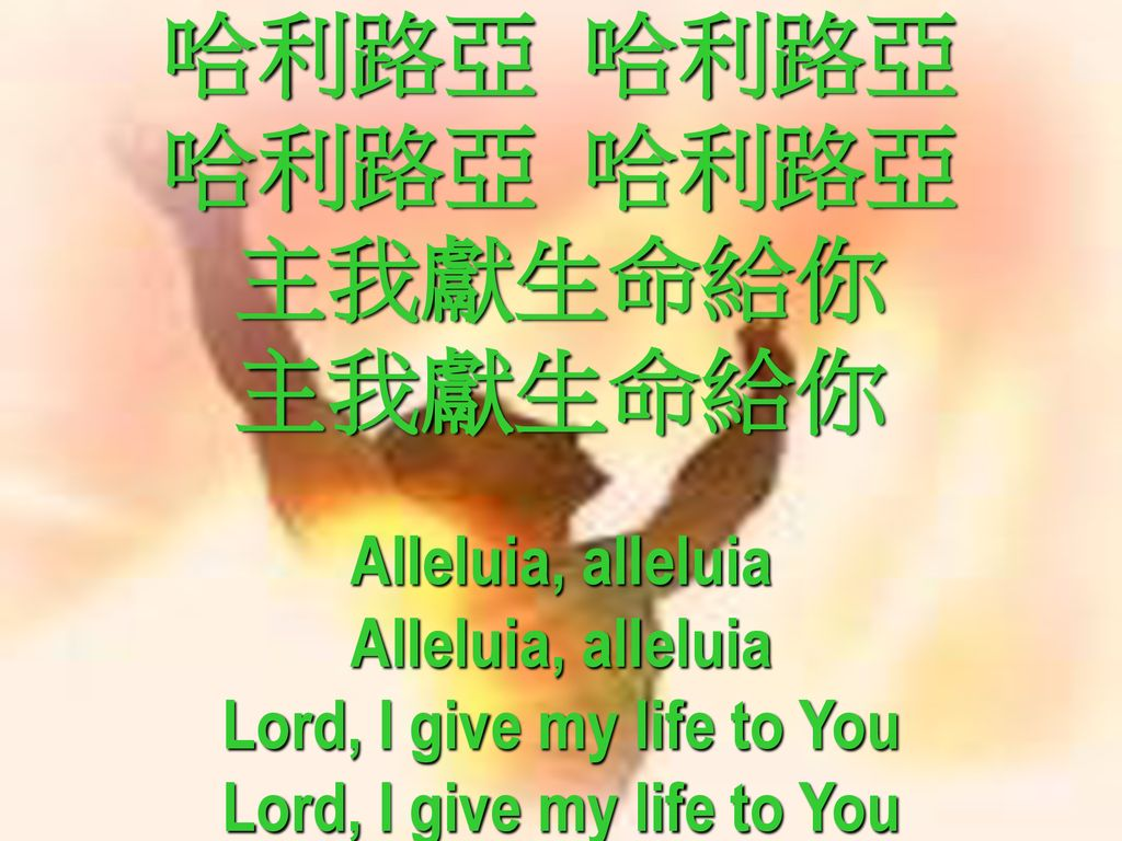 Lord, I give my life to You