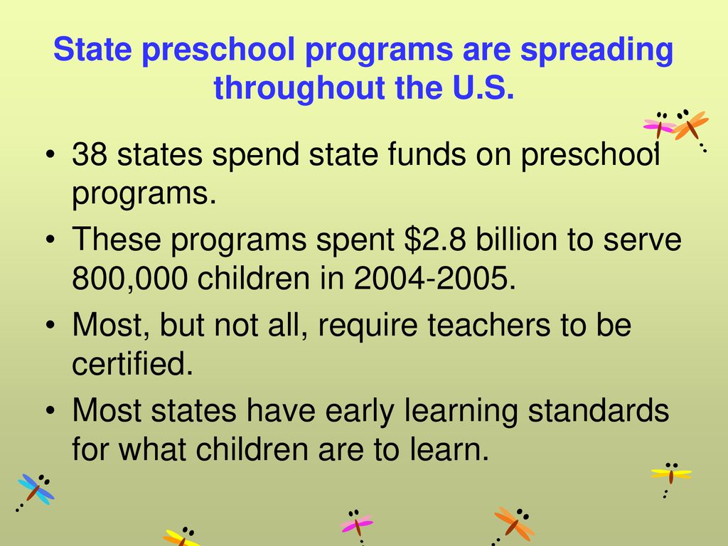 State preschool programs are spreading throughout the U.S.