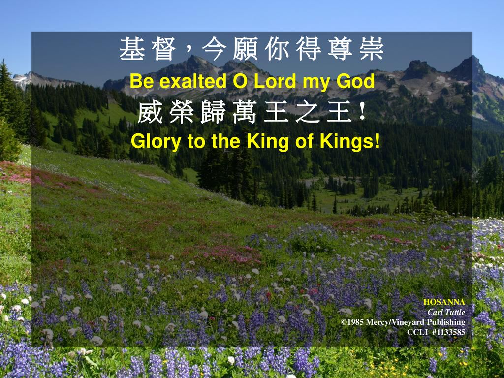 Glory to the King of Kings!