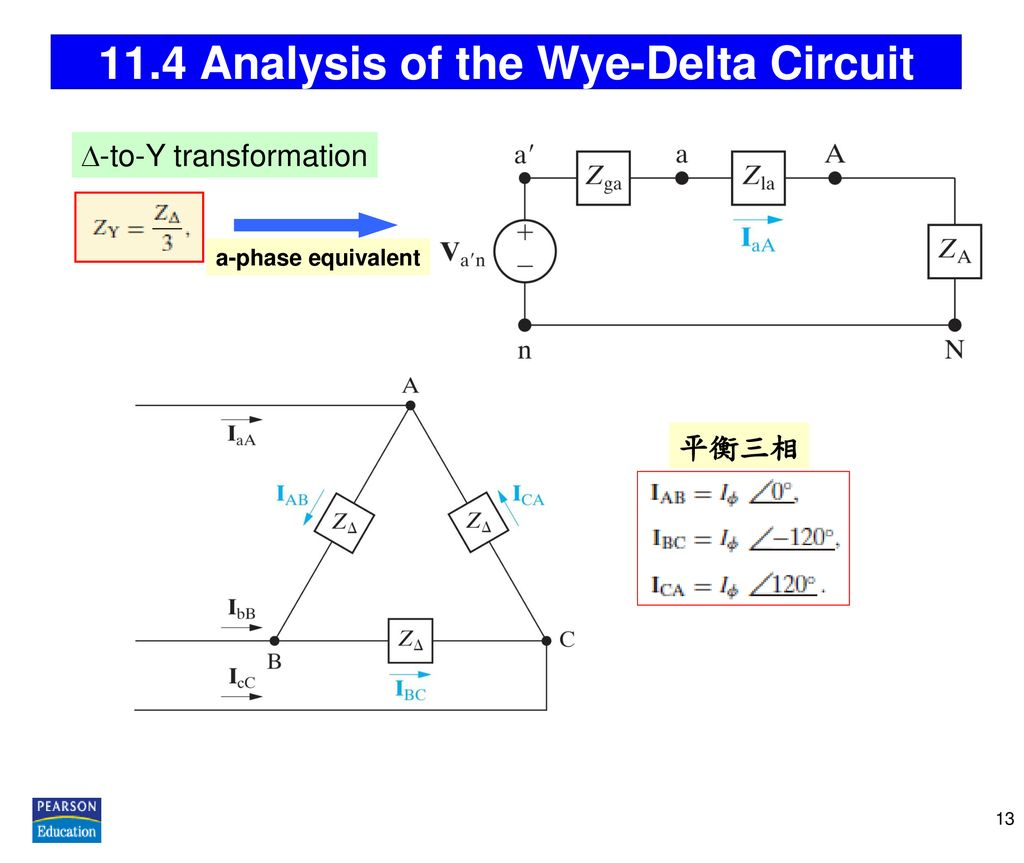 11.4 Analysis of the Wye-Delta Circuit