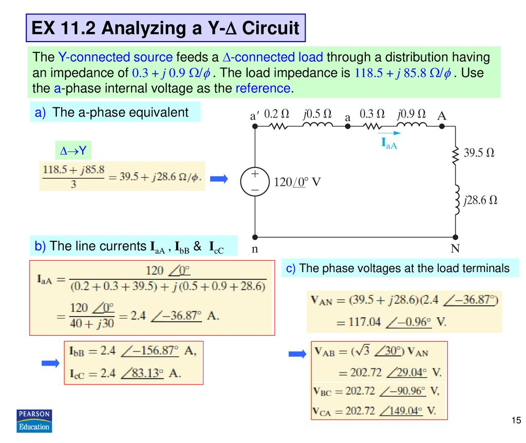 EX 11.2 Analyzing a Y- Circuit