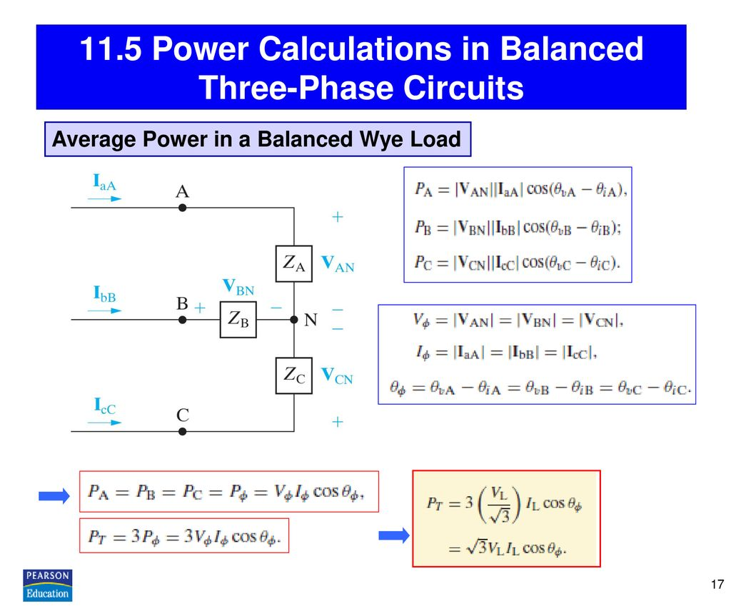 11.5 Power Calculations in Balanced Three-Phase Circuits