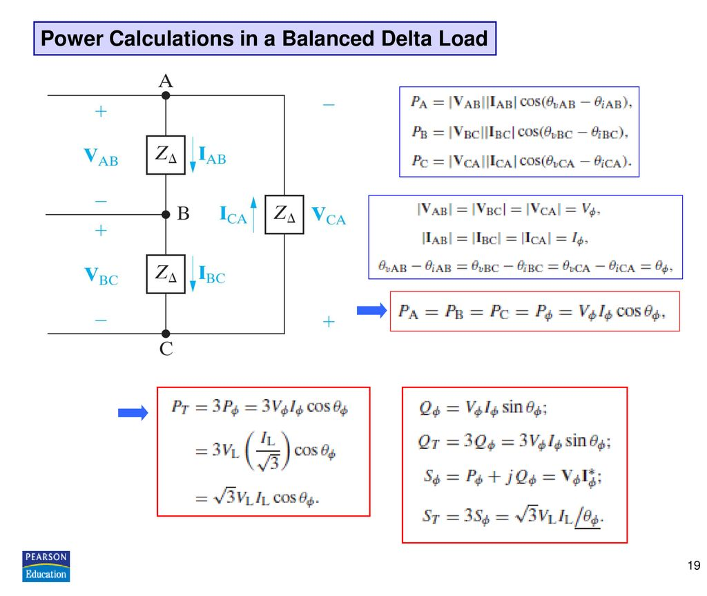 Power Calculations in a Balanced Delta Load