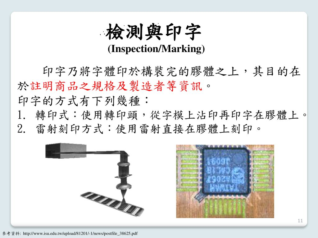 (Inspection/Marking)