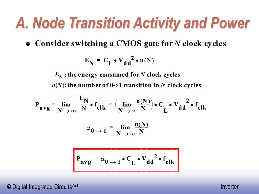 A. Node Transition Activity and Power