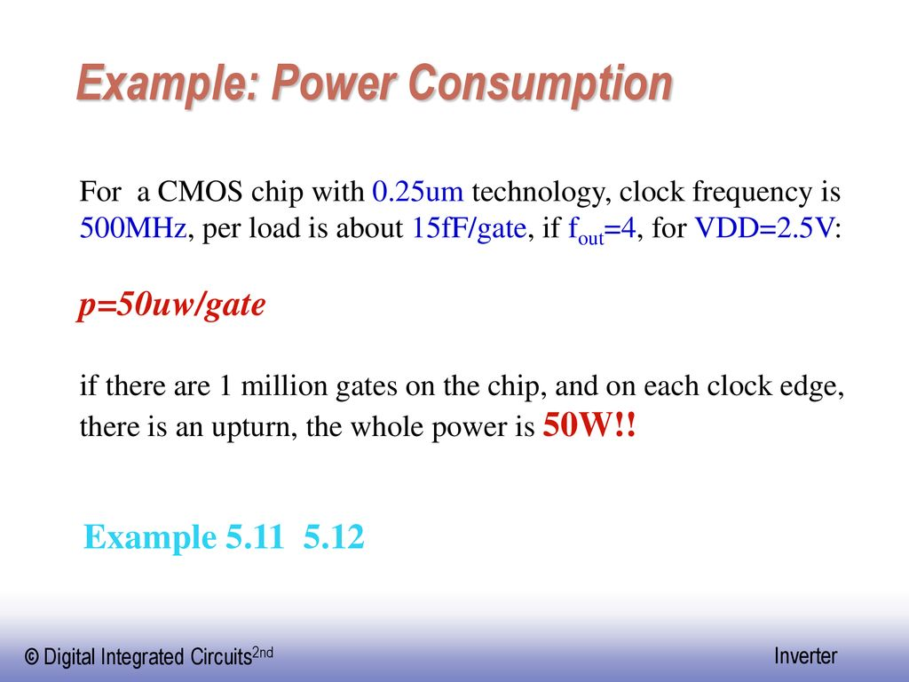 Example: Power Consumption