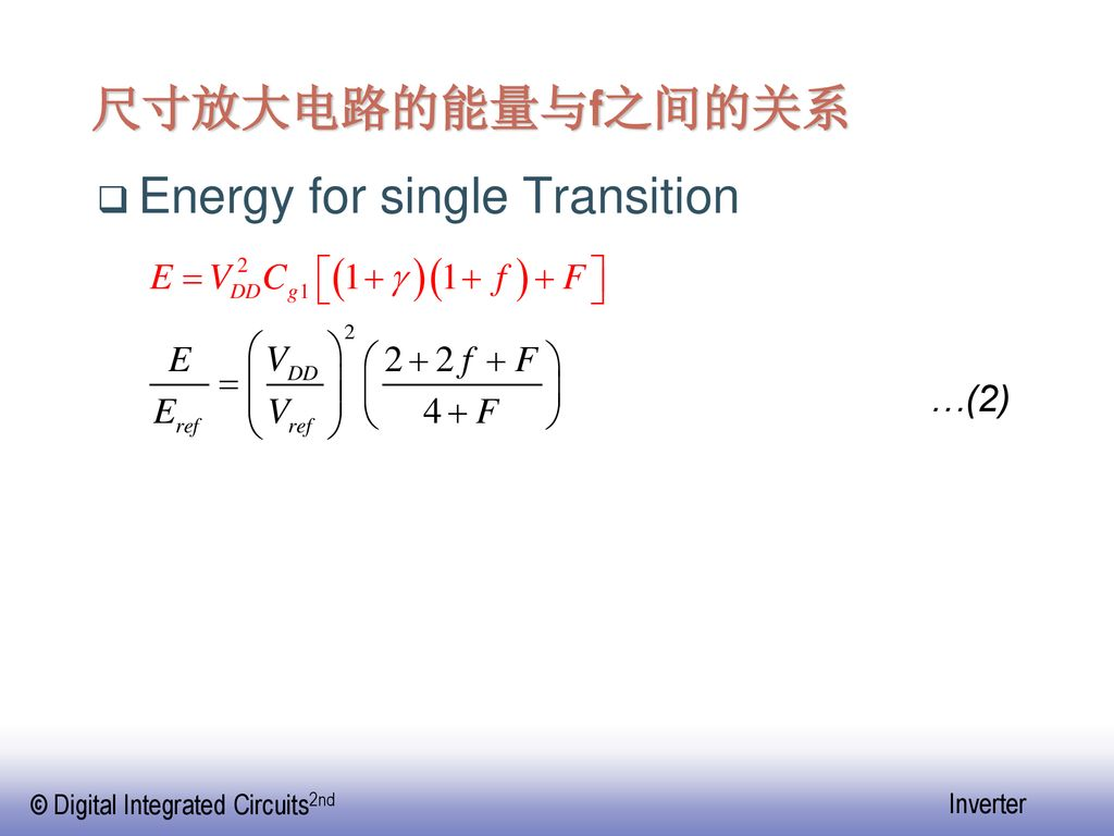 Energy for single Transition