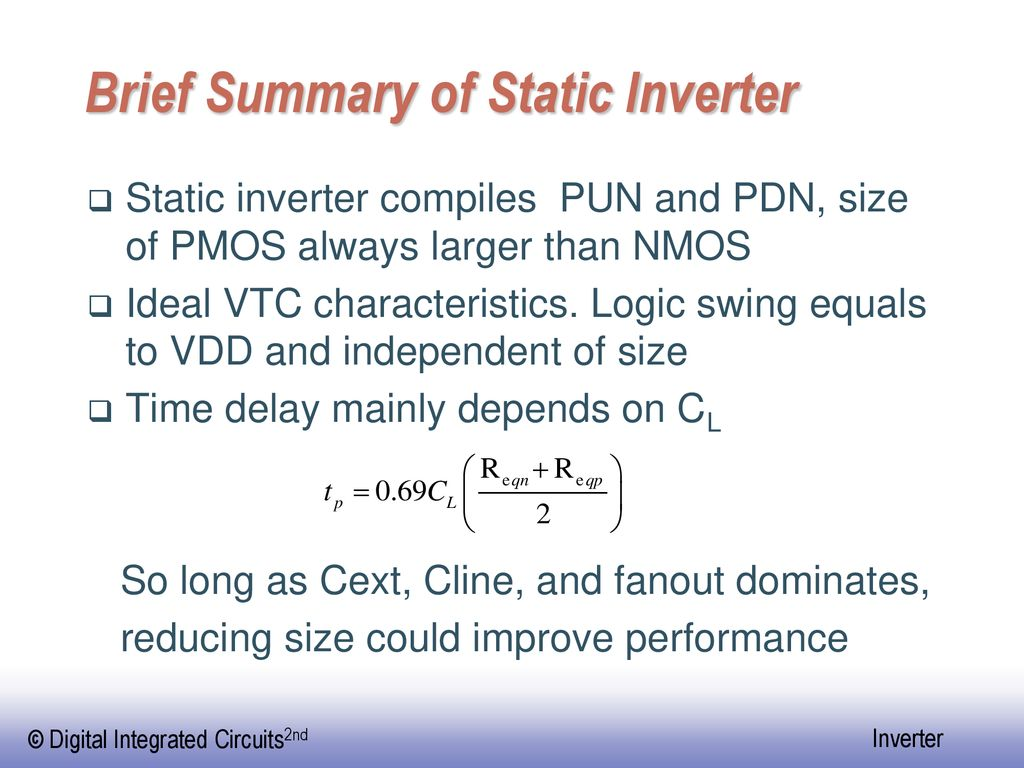 Brief Summary of Static Inverter