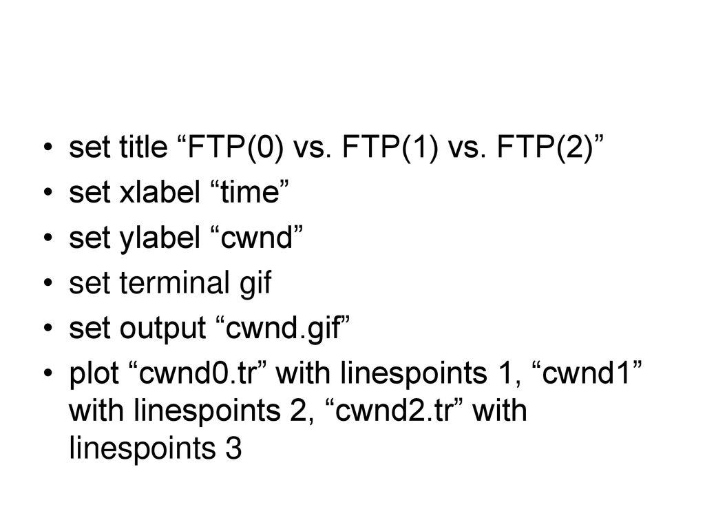 set title FTP(0) vs. FTP(1) vs. FTP(2)