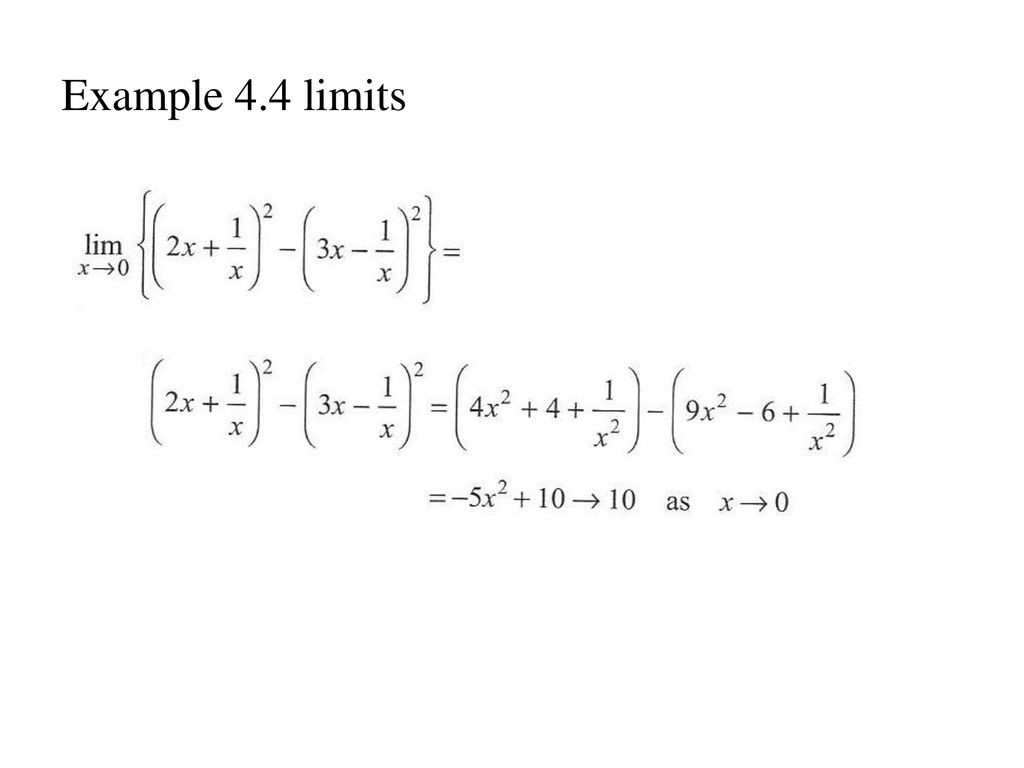 Example 4.4 limits