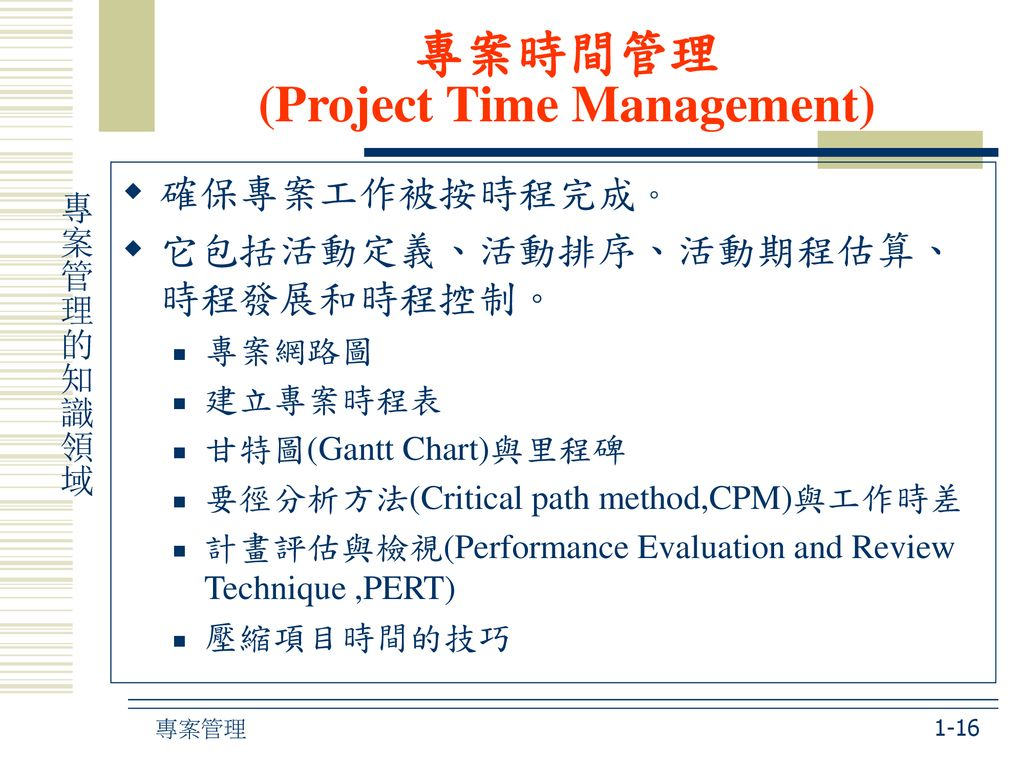 專案時間管理 (Project Time Management)