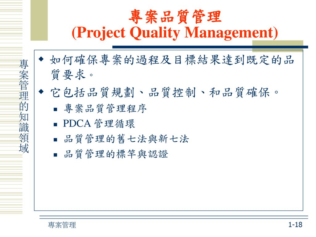 專案品質管理 (Project Quality Management)