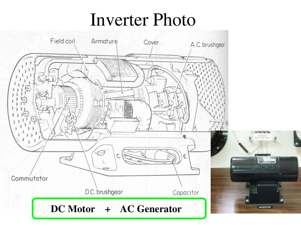 Inverter Photo DC Motor + AC Generator