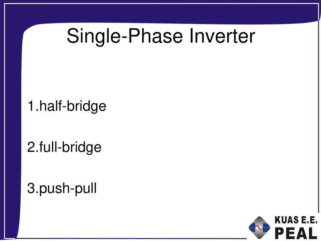 Single-Phase Inverter