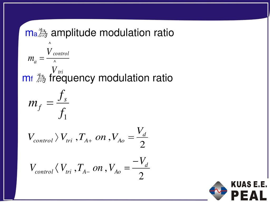 ma為 amplitude modulation ratio
