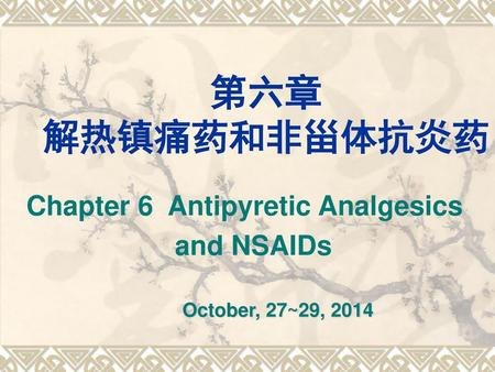 Chapter 6 Antipyretic Analgesics and NSAIDs