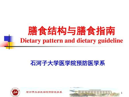 Dietary pattern and dietary guideline