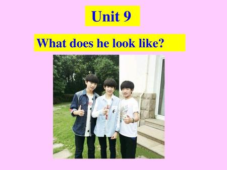 Unit 9 What does he look like?.