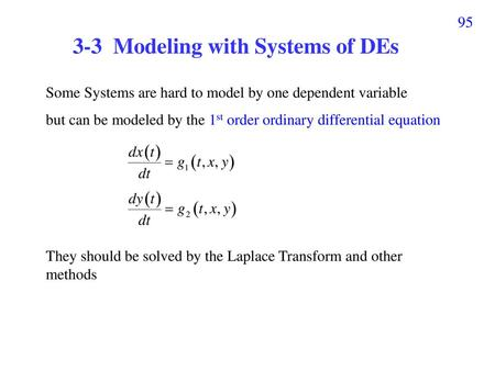 3-3 Modeling with Systems of DEs