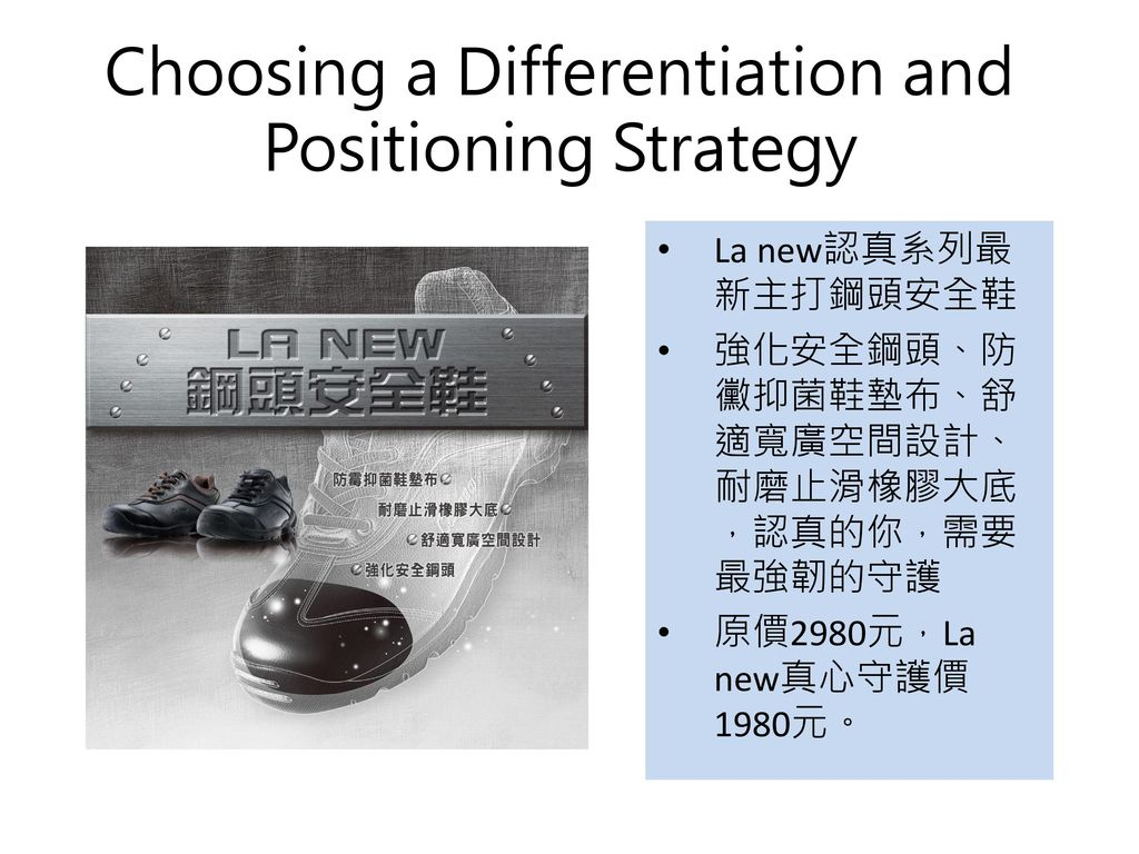 Choosing a Differentiation and Positioning Strategy