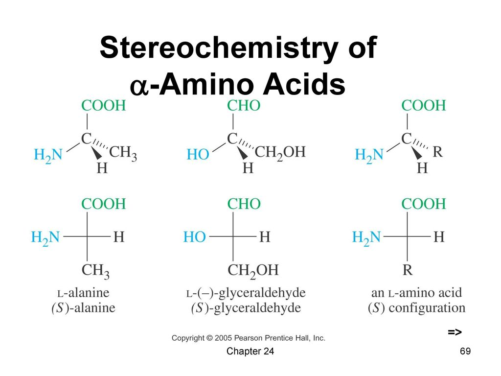 Stereochemistry of -Amino Acids