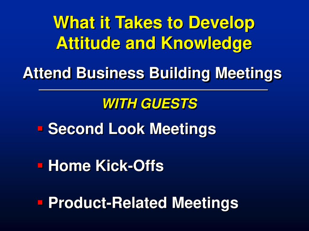 What it Takes to Develop Attitude and Knowledge