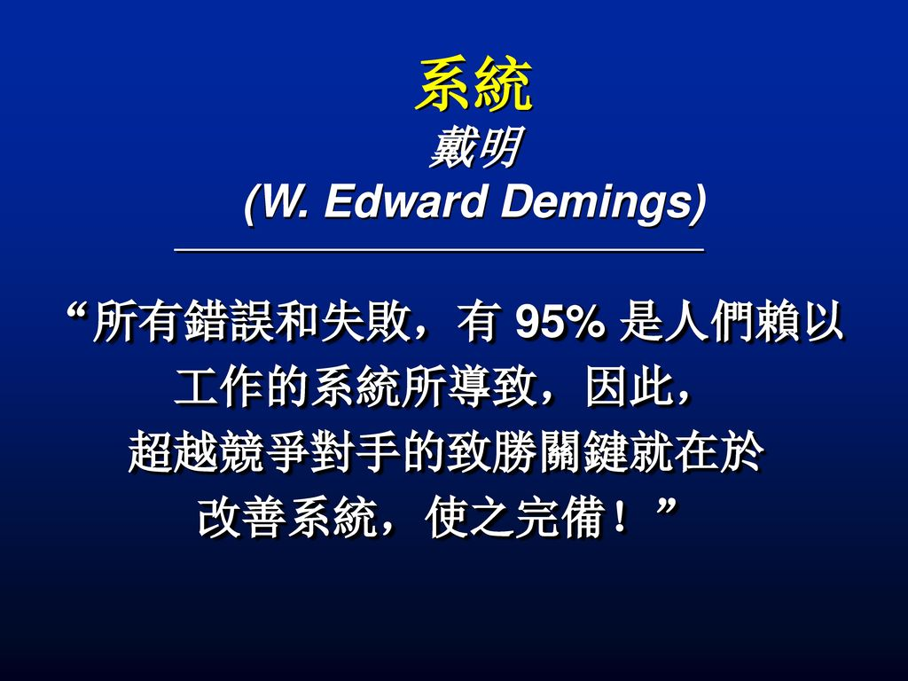 系統 戴明 (W. Edward Demings)