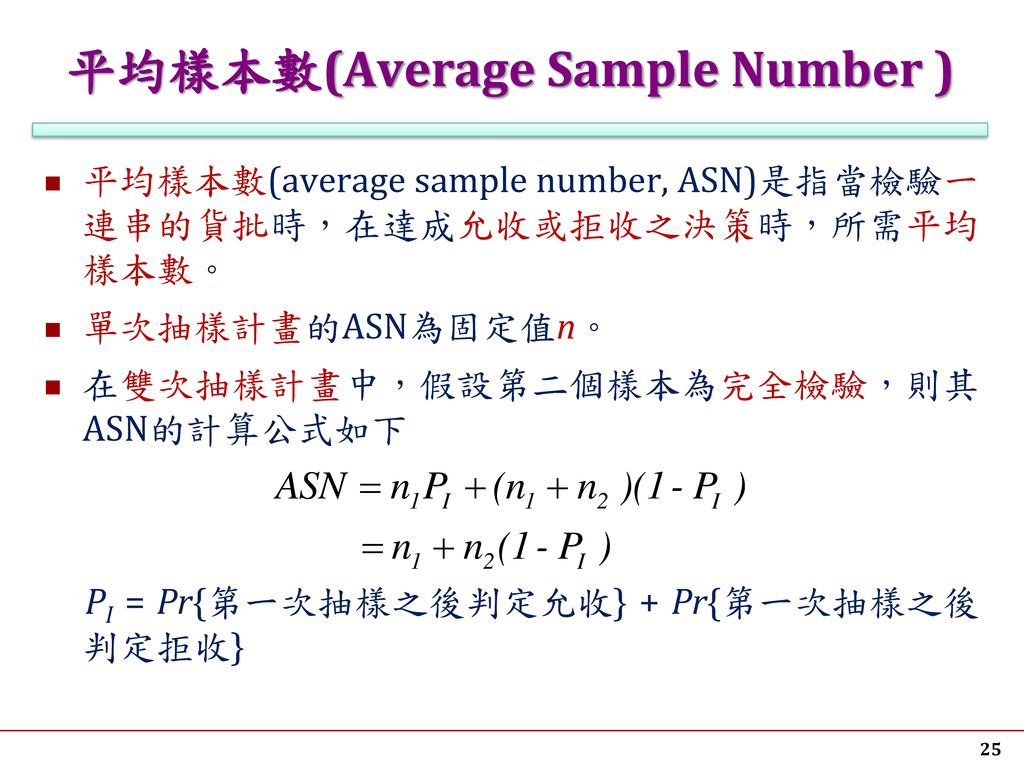 平均樣本數(Average Sample Number )