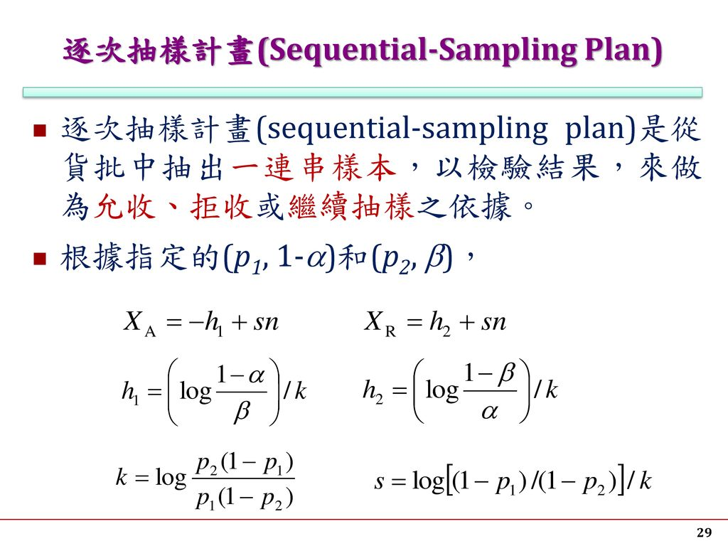 逐次抽樣計畫(Sequential-Sampling Plan)