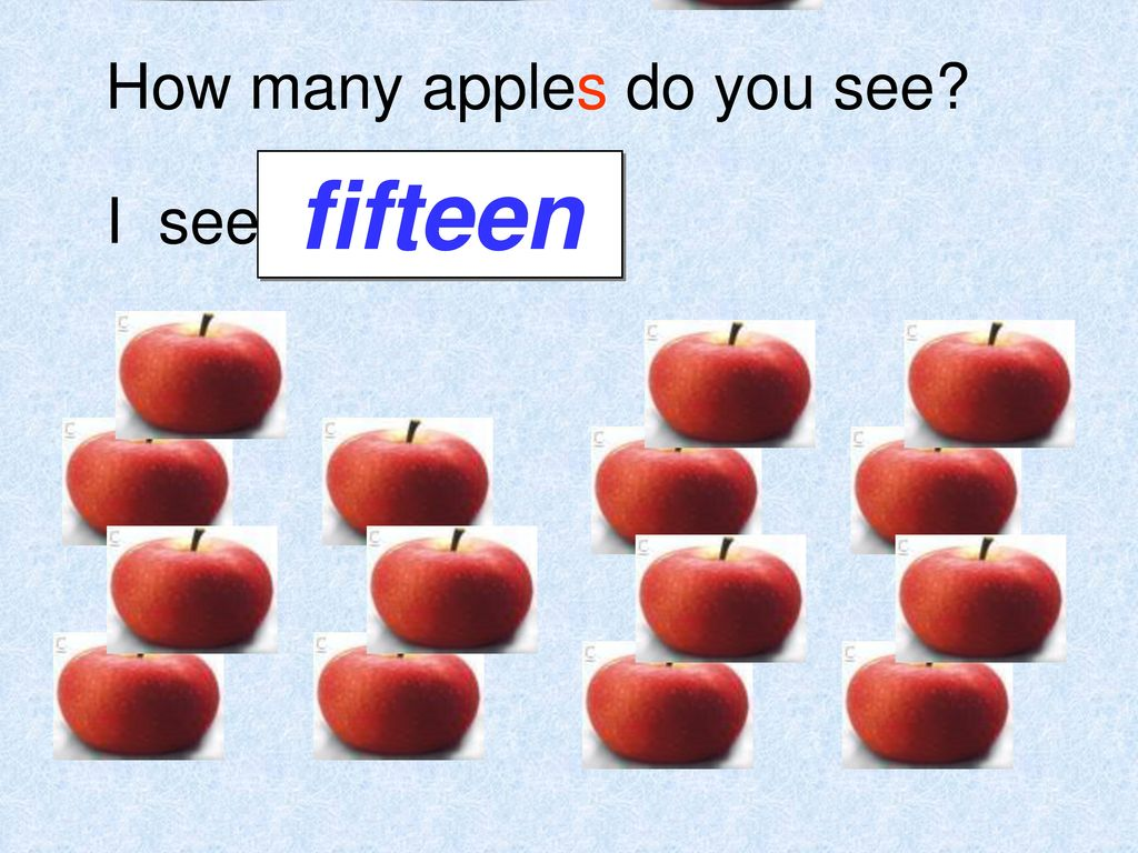 How many apples do you see