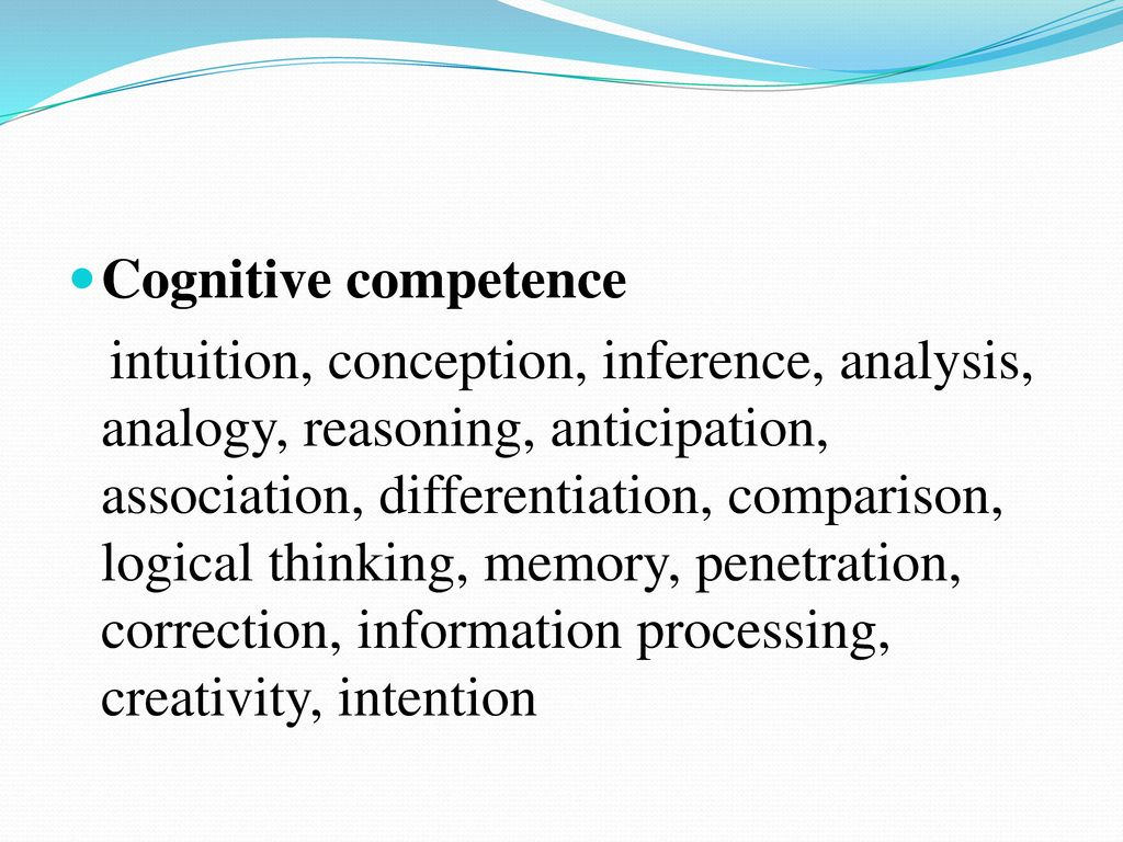 Cognitive competence