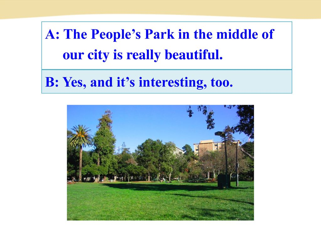 A: The People's Park in the middle of