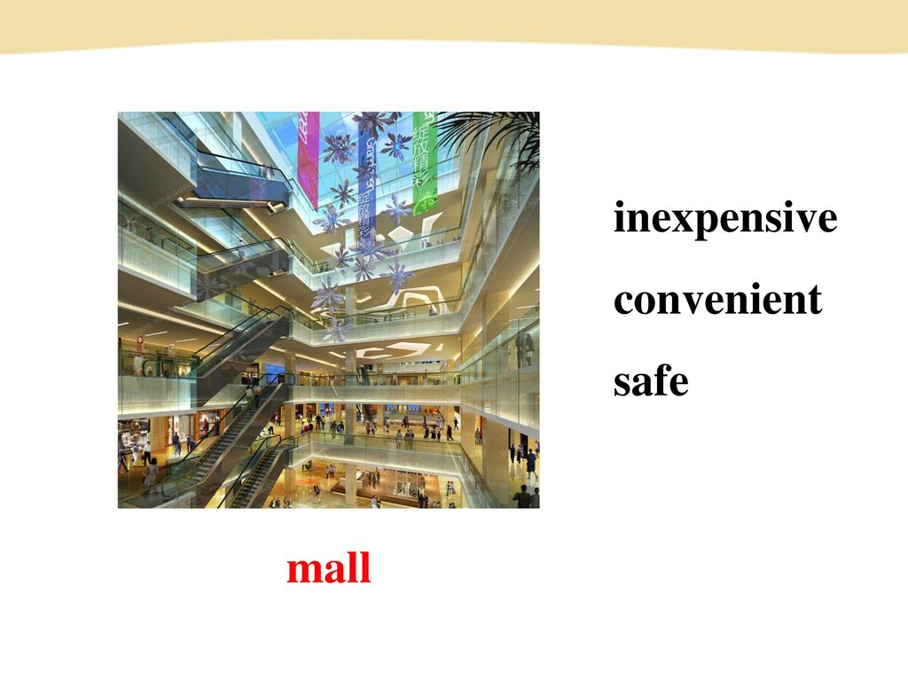 inexpensive convenient safe mall