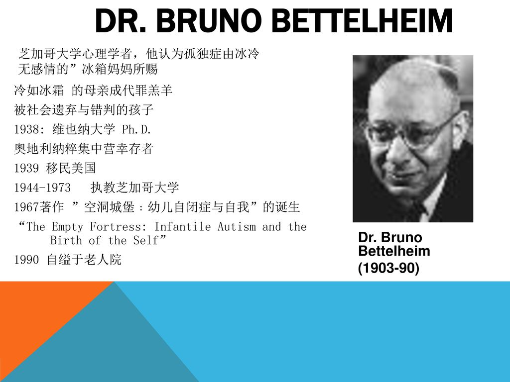 DR. BRUNO BETTELHEIM Dr. Bruno Bettelheim ( )