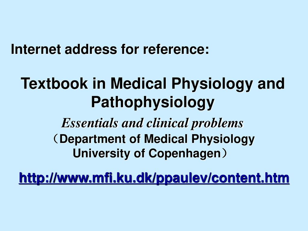 Textbook in Medical Physiology and Pathophysiology