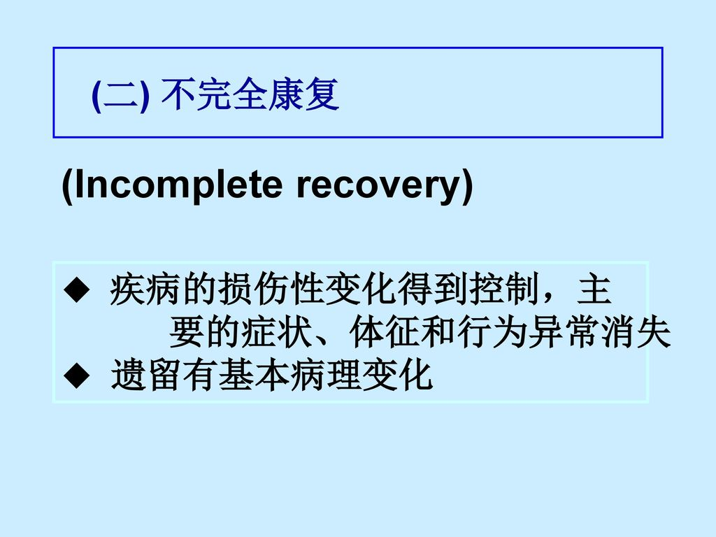 (Incomplete recovery)