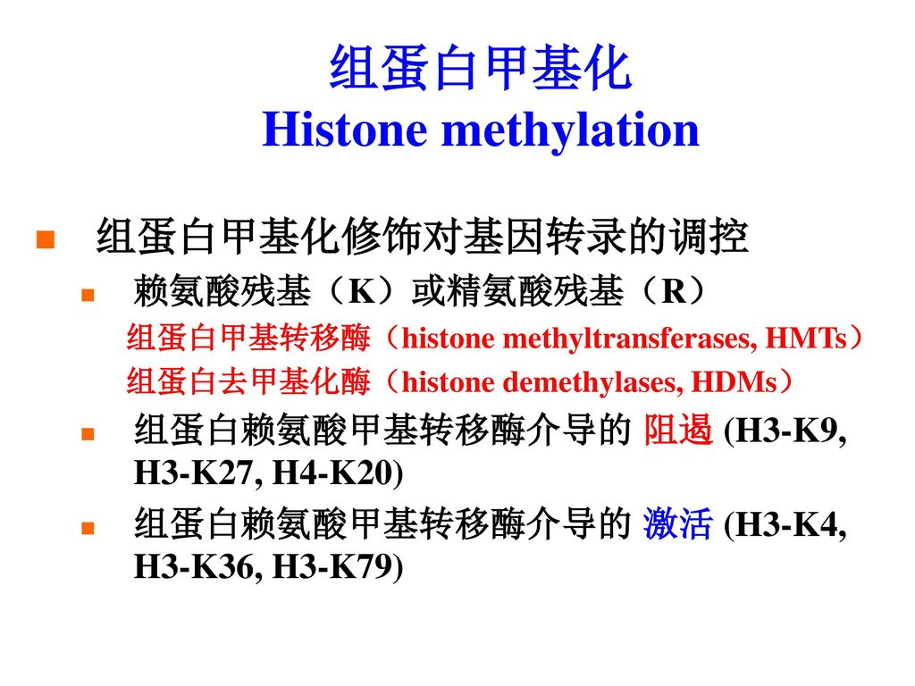 组蛋白甲基化 Histone methylation