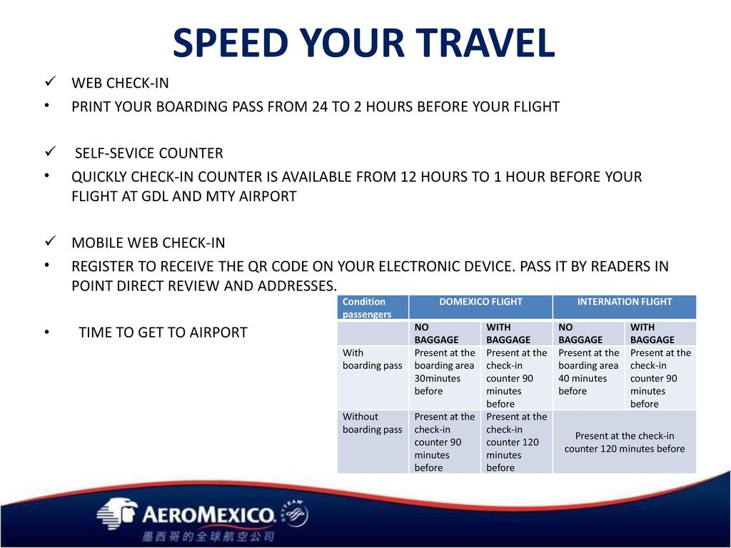 SPEED YOUR TRAVEL WEB CHECK-IN