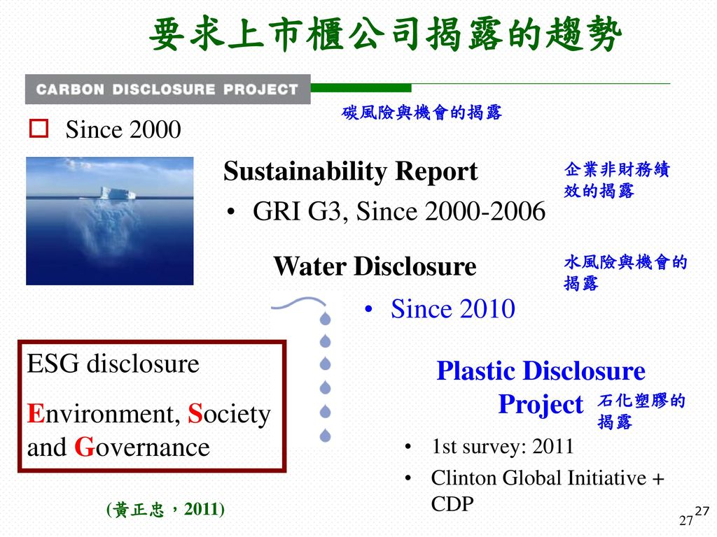Plastic Disclosure Project