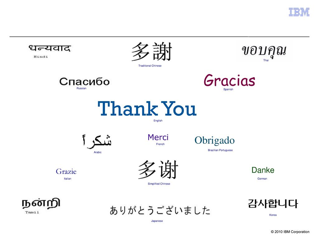 Thank You Gracias Obrigado Merci Danke Grazie Thai Traditional Chinese
