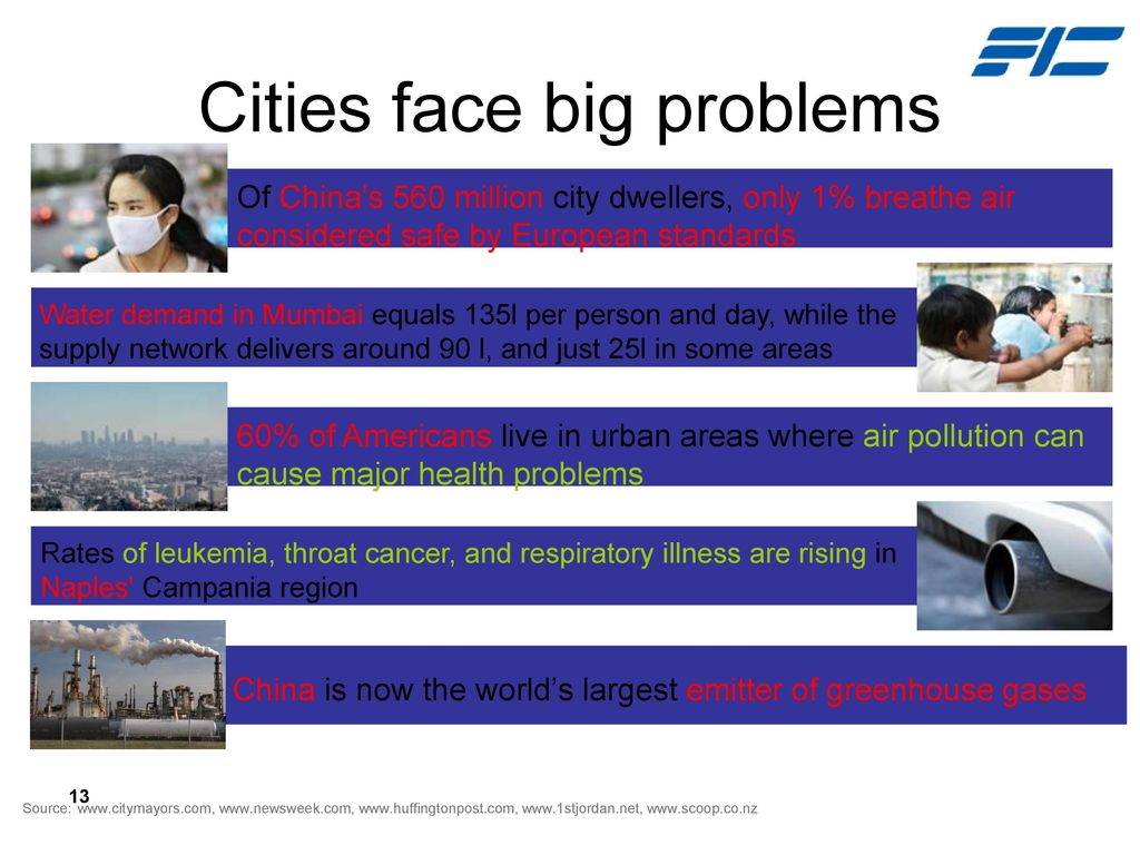 Cities face big problems
