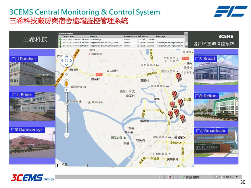 3CEMS Central Monitoring & Control System