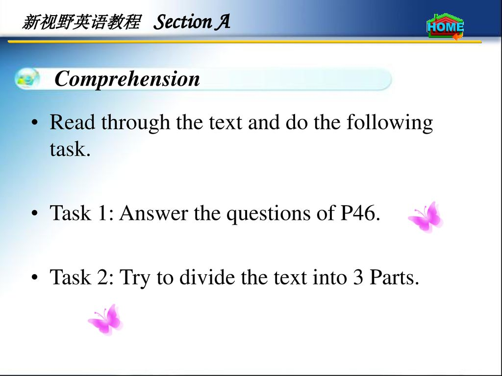 Read through the text and do the following task.