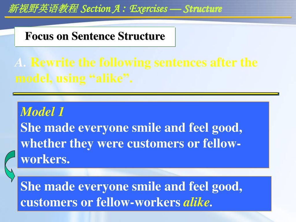 Focus on Sentence Structure