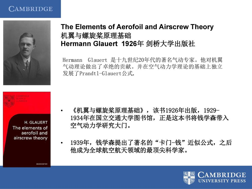 The Elements of Aerofoil and Airscrew Theory 机翼与螺旋桨原理基础