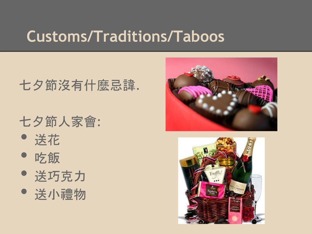 Customs/Traditions/Taboos