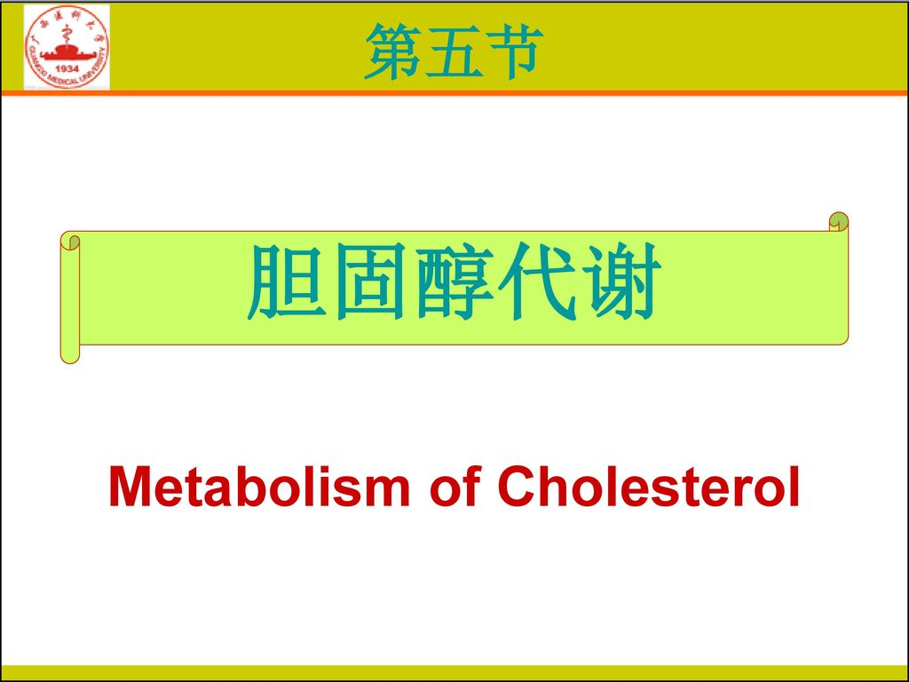 Metabolism of Cholesterol