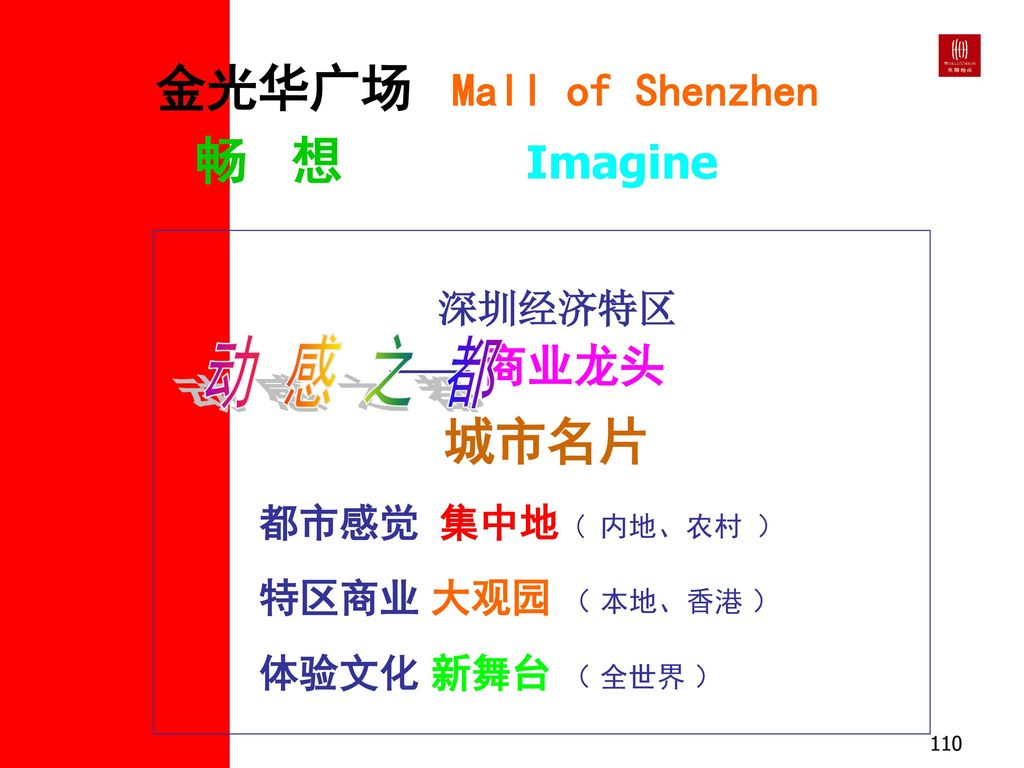金光华广场 Mall of Shenzhen 畅 想 Imagine