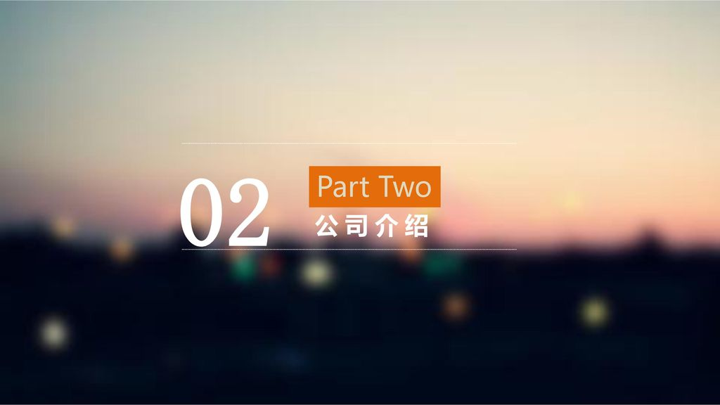 02 Part Two 公司介绍